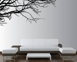 wonderful simplicity tree branches silhouette wall art decal for