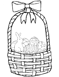 printable coloring pages of easter basket coloring pages