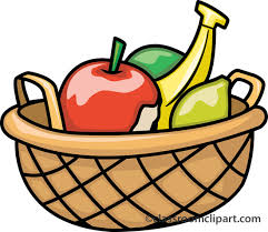 Fruit Basket Simple Clipart Fruit Basket Pencil And In Color Simple Clipart
