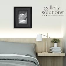 amazon com gallery solutions 8x10 black wood frame with double
