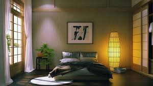 appealing home goods floor lamps in the bedroom with the lights on