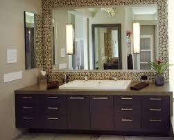 mosaic ceramic glass bathroom mirror frame mixed modern dark brown