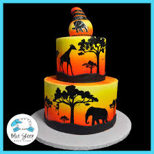 zoo themed birthday cake african safari birthday cake blue sheep bake shop