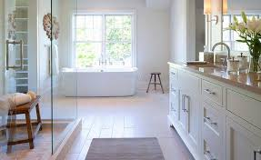 Building A Shower Bench Freestanding Bench In Shower Transitional Bathroom