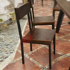 chaise de bureau antique bois américain dossier haut chaise forgé café de fer repas de