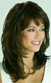 image result for medium length hairstyles with bangs for women