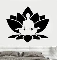 Lotus Flower Wall Decal Om by Aliexpress Com Buy Religion Vinyl Wall Decal Buddhism India