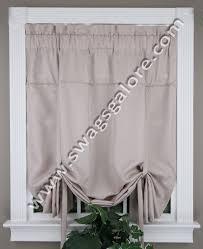 Tie Up Valance Kitchen Curtains Metro Woven Tie Up Shade Metro Woven Valance U0026 Curtains By