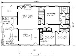 dimensioned floor plan house plan 45285 at family home plans