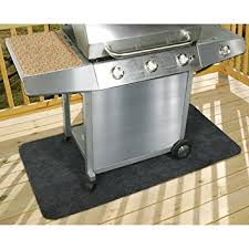 amazon com patio gas grill mat protects cement wood and
