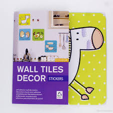 new cartoon animals palants designs wall tiles decor stickers for