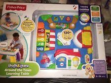 fisher price around the town learning table fisher m 9972 laugh learn fun w friends musical table ebay