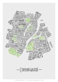 Copenhagen Map Judgemental Copenhagen Hand Drawn A2 Print U2013 Metromash