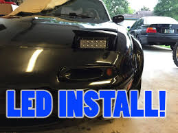 how to install led lights in car headlights how to install led light bars as headlights on miata youtube