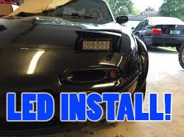 automotive led light bars how to install led light bars as headlights on miata youtube