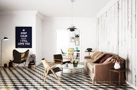 checked floor tile interior design ideas