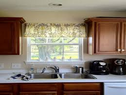 kitchen beautiful custom kitchen valance ideas with beige flower