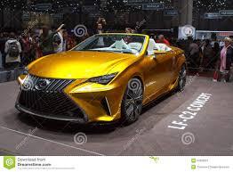 lexus lf c2 yellow lexus lf c2 concept geneva motor show 2015 editorial photo