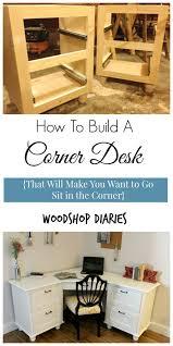 Build Your Own Corner Desk A Corner I Wouldn T Mind Being Sent To Diy Corner Desk