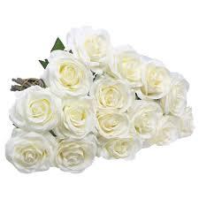 amazon com artificial flowers amyhomie silk roses bouquet home