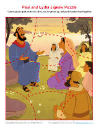 paul taught lydia about jesus jigsaw puzzle bible story puzzle