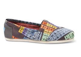 toms periodic table shoes lyst toms periodic table womens vegan classics