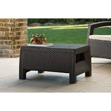 All Weather Patio Furniture Table Colona All Weather Outdoor Coffee Table Black Round Project