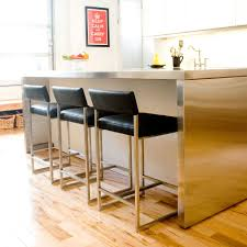 Modern Kitchen Chairs Leather Furniture Red Leather Seat And Back Countertop Stools For