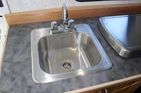 Rv Kitchen Sink Covers by Installing Galley Cabinet Sink Fridge Stove Build A Green Rv