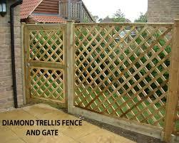 diamond rail fence diamond trellis fence with matching gate