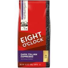 espresso ground coffee eight o u0027clock dark italian espresso ground coffee 11 5 oz bag