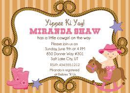 cowgirl baby shower invitations cloveranddot com