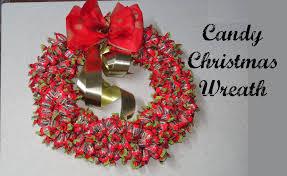 candy wreath candy christmas wreath diy
