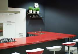 bathroom design lovely kitchen island with red recycled glass lovely kitchen island with red recycled glass countertops and bar stool for awesome kitchen decor ideas