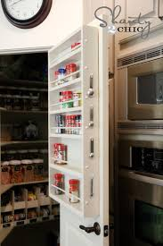 Over The Cabinet Spice Rack Pantry Ideas Diy Door Spice Rack Shanty 2 Chic
