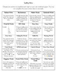 best 25 spelling homework menu ideas on spelling menu