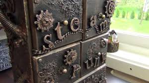 Steampunk Decorations Altered Steampunk Drawer For Resin Decorations Youtube