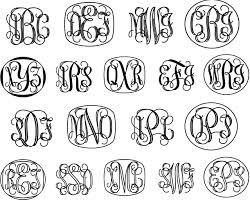 initial fonts for monogram vine monograms font family by harold s fonts font bros