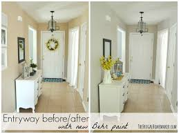 entryway before after with new behr paint maybe this color for the