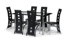 Dining Table And  Chairs Furniture EBay - Black dining table for 8