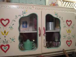 hoosier style kitchen cabinet c dianne zweig kitsch u0027n stuff hand painted hoosier style