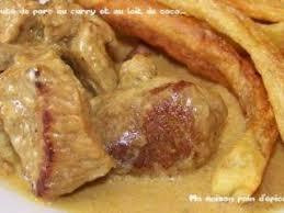 cuisiner un sauté de porc sauté de porc au curry et au lait de coco recette ptitchef