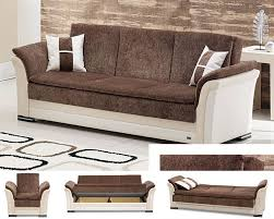 Futon Bed With Storage Sofa Bed With Chaise And Storage Photo 2 Beautiful Pictures Of