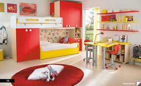 Three Level Bunk Bed Bedroom Appealing Colorful Robotic Child Bedroom Design With