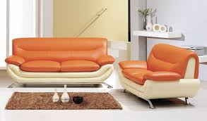 contemporary dual colored bonded leather sofa set louisville
