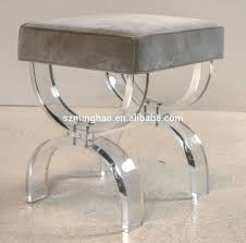 Metal Vanity Stool Wonderful Acrylic Vanity Chair With Additional Interior Designing