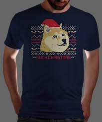 Christmas Doge Meme - qwertee com latest shirts