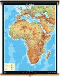 Maps Of Africa Klett Perthes Extra Large Physical Map Of Africa
