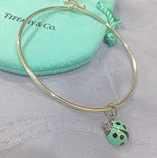 tiffany wire bracelet images Authentic tiffany co wire bracelet with ladybug charm luxury jpg