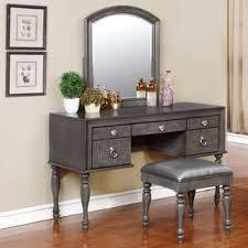 mirrored makeup vanity table bedroom makeup vanities joss main